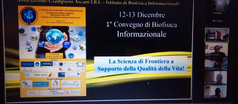 Convegno di Biofisica Informazionale – Registrazione Disponibile